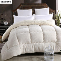 Wholesale wool duvets for sale - Group buy Wool lhair warm winter wool quilt thicken comforter duvet blanket Lamb Down Fabric filling king queen size