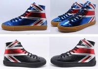tierisches leder großhandel-Markendesigner Männer Frauen Animal Stickerei High Top Schuhe aus echtem Leder 3D Tiger Schnürschuhe Plus Größe 45 46