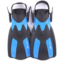 ingrosso pinne per nuotare-Immersioni Webbed Feet Swim Flippers Snorkeling Whale Training Short Fins Donne e uomini Robusto Durable Blue Red 68bn C1