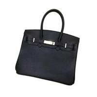 ingrosso borse medie delle signore-Borsa per borse da donna in pelle di qualità di vendita calda, chiusura con lucchetto, doppie maniglie superiori, con sacchetto per la polvere di medie dimensioni