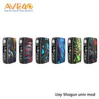 caixa de bateria dupla mod venda por atacado-IJoy Shogun Univ 180 W Mod Box Alimentado Por Dual 18650 Bateria Embutido UNIV Chipset Dupla-face Resina Mod 100% Original