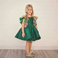 Wholesale butterfly little girl dresses for sale - Group buy Retail Baby Girls Butterfly Sequin Princess Dress little girls clothing Summer Fly Sleeve Ruffle Party Prom Dresses Kids boutique Cosplay