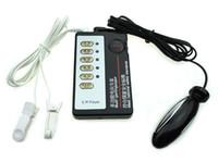 elektroschock-kit bdsm großhandel-BDSM Sex-Spielzeug für Erwachsene Spiel Stromschlag Kit Nippel Klitoris Clip Nippel Clip anal vaginal Plug E reizende Produkte