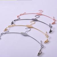 Wholesale bra rack hangers for sale - Group buy Underwear Hanger With Big Hook Metal Rose Gold Color Popular Costume Props Racks Bra Torage Holders hd E1