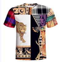 ingrosso d t-shirt animali-19 Maglietta estiva di marca da uomo casual manica corta in cotone tops stampa maglietta da uomo hip hop T-shir maschio M-3XL