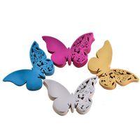 ingrosso scatola di carta della farfalla-50pcs carta farfalla rifrangente rifilatura nome carte per coppe feste di nozze tavolo decorazione articolo