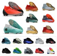 Wholesale boys green boots for sale - Group buy Top quality Mens Mercurial Superfly SuperflyX VI Elite CR7 Ronaldo Exclusive FG High Soccer Shoes Kids Women Boys Football Boots futbol