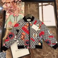 kıyafetler toptan satış-Erkek ceket çocuklar giysi tasarımcısı sonbahar kartlı kumaş kaplı pamuklu ceket antistatik kumaş ceket çok eleman desen tasarım