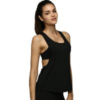 Wholesale woman s sports tank resale online - 8 Color Summer Sexy Sporting Women Tank Top Fitness Workout Tops Gyming Women Sleeveless Shirts Sporting Quick Drying Loose Vest