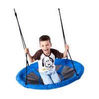 Wholesale swing children for sale - Group buy Canvas Swing Children Swings Garden Hammock Outdoor Sports Plays Rope Weaving Round Bottom Solid Camp Portable Hot Sale ygf1