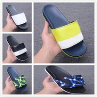 sandalias de mejor diseñador al por mayor-Top Brand Men Women Sandals Designer Shoes Slide Summer Best Fashion Wide Flat Slippery Sandals Slipper Flip Flop With box