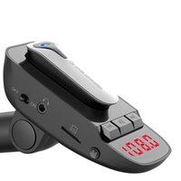 disk gönderimi toptan satış-SıCAK Araba Bluetooth MP3 Çalar Handsfree Kulaklık FM Verici Destek TF Kart U Disk Drop Shipping