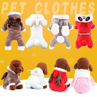 Wholesale leg jacket online - Autumn And Winter Four Legged Pet Clothes Thickening Double Layer Dog Warm Clothing Soft Coral Velvet Outfit MMA1202