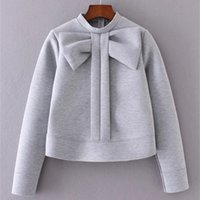 Wholesale wool jersey mujer resale online - 2020 Woman Butterfly Hoodies with Back zipper Bow Collar Sweatshirts Women Hooded Coat sudadera mujer Female Pullover