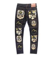 ingrosso pantaloni lunghi sciolti-2019 Nuovi jeans Jeans di alta qualità con cerniera di lusso ricamati Jeans firmati Pantaloni firmati da uomo Pantaloni lunghi da uomo Jeans da uomo