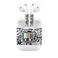 ingrosso decalcomanie adesivi apple-Sticker pelle Fanstore Nuovo design Decalcomania del vinile Cover per Apple Airpods Auricolare Decal