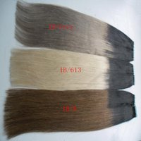 Wholesale ombre real hair for sale - Group buy Ombre Color Tape in Hair Real Remy Human Hair Extensions Real Remy Straight Invisible Skin Weft PU Tape On Hair Extensions