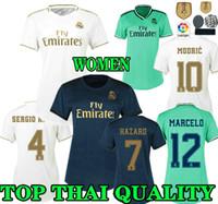 реал третьего джерси роналду оптовых-женский Реал Мадрид футбол Джерси 19 20 Домой ОПАСНОСТЬ 2019 2020 леди RONALDO ASENSIO BALE RAMOS ISCO MODRIC Women Away треть футболки