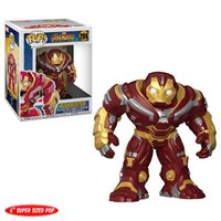 Wholesale ship figure head resale online - Funko pop Marvel The Avengers Infinity War Hulkbuster Bobble head Action Figure with original box Great Quality and same day shipping