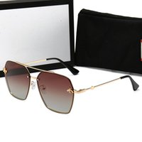 corrente de óculos de sol venda por atacado-Gucci 0113 mulheres óculos de sol colar de corrente de ouro designer de óculos de sol marca muito raro óculos de sol eyewear shades novo com caixa