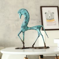 Wholesale original digital art online - 3D Digital Modeling Egypt Horse Deliacte Brozne Sculpture Copper Horse Decoration Sculpture Sense of Art Original Design Decor