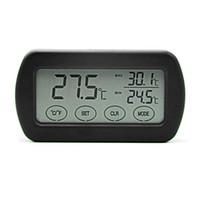 dijital termometre sıcaklık ölçümü toptan satış-Dijital Termometre Higrometre Küçük LCD Dokunmatik Ekran Yumurta Inkübatör Metre Nem Sıcaklık Uyarısı Makinesi Ölçümü