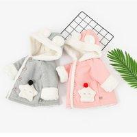 bebek polar şapka toptan satış-Hem erkek hem de kız çocukları için yeni bebek başlıkları sonbahar ve kış için bir örtü ve bir şapka ekler