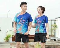 blanks de jerseys esportivos venda por atacado-Camisa do tênis em branco Badminton Jersey Homens Mulheres Sportswear Treinamento Peteca Suit Correndo Badminton camisa ostenta camisas Masculino