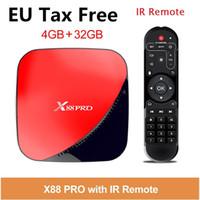 usb 5g venda por atacado-UE livre de impostos x88 pro android 9.0 caixa de TV 2g16g 4g32g 4g64g rk3318 usb 3.0 2.4 / 5g wi-fi caixa de tv inteligente