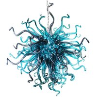 ingrosso pendenti fatti a mano in porcellana-LED di lusso Lampadario di fascia alta Living Room Art Glass Lampadine Chihuly Style in Vetro di Murano lampadario pendente della luce di casa luce