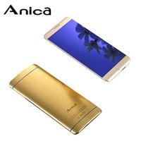 kilitli olmayan cep telefonu toptan satış-Anica A7 Süper Mini Telefon Ultrathin Kart Lüks Bluetooth Dail 1.63 Toz Geçirmez Darbeye Dayanıklı cep telefonu kenar telefono movil kilidini düşük Maliyetli İspanya