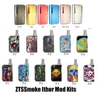 пробные мини-комплекты оптовых-Аутентичные ZTCSmoke iThor Mini Pro Комплект Испарителя 400 мАч Батарея 2в1 Vape Box Мод Для Воска Кварцевый Бак Толстый Масляный Картридж 100% Оригинал