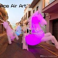 weißes pferd gut großhandel-Gute Qualität weißen Riesen Fuß aufblasbares Pferd Kostüm Tier LED für Aufführungen