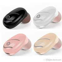 unsichtbare drahtlose versteckte ohrhörer großhandel-Hochwertige 2018 NEUE Bluetooth Kopfhörer Drahtlose kopfhörer in-ohr Mini Mono Ohrhörer Einzelne Versteckte Business Ohrhörer Unsichtbare Ohrhörer