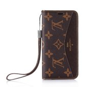 handtaschentelefonkasten für galaxie großhandel-Classic Branding Leather Wallet Case für Apple iPhone XS Max / XR 8/7/6 Plus mit Kartenhalter Flip Ständer Stoßfänger für Damen Mädchen