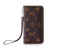 kadınlar için iphone cüzdan toptan satış-Klasik Marka Deri Cüzdan Kılıf Apple iPhone için XS Max / XR 8/7/6 Artı Kart Sahibinin Flip ile Kadınlar için Kickstand Tampon