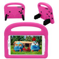 sekme çocukları kapsar toptan satış-Samsung Galaxy Tab A T280 T285 7 inç Evrensel Tablet Galaxy T230 Çocuklar Güvenli Silikon Kapak + Stylus Saplı EVA Kılıf