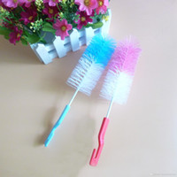 Wholesale Food Grade Baby Milk Bottle Cleaning Brush With Hook Mix Colors Convenient Water Bottles Brush Feeding Water Cup Brush BH0449 TQQ