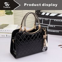 Wholesale ladies motorcycle purse for sale - Group buy Hot Sell Boston Bag Classic Solid Color Tote Handbag Fashion Lattice Pattern Bags Women Sling Bag Casual Shoulder Bag Lady Wallet Purse Tote
