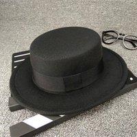chapéu liso do bebê da borda venda por atacado-Misture 8 cores do inverno dos miúdos chapéus meninos meninas planas de lã chapéu do bebê balde de luxo designer chapéus meninas crianças chapéu boné de aba larga