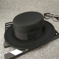 Wholesale baby boy flat hats resale online - Mix colors kids winter hats boys girls flat woolen hat baby designer luxury bucket hats girls children Wide Brim cap hat