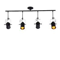 Wholesale e27 track lighting for sale - Group buy Retro Industrial Ceiling Spotlights Minimalist Track Light Mini Hanging Spot Lighting Black E27 Ceiling Light CRESTECH