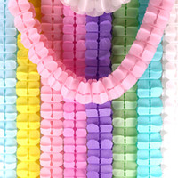 Wholesale bunting garlands for sale - Group buy Colorful Clover Garlands Paper Bunting For Kids Birthday Curtain Wedding Party Home Decoration m High Quality ly E1