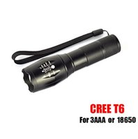 Wholesale battery for ultrafire xml t6 resale online - Free DHL G700 E17 CREE XML T6 Lumens High Power LED Torches Zoomable Tactical LED Flashlights torch light for x18650 battery