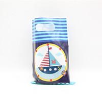 tekne malzemeleri toptan satış-Thw Yeni 6 adet / takım Yeni Yıl hediye karikatür tema hediye çantası denizcilik tekne tema parti doğum günü malzemeleri