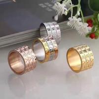 ringe großhandel-Titan Stahl Hochzeit Marke Designer Liebhaber Ring für Frauen Luxus Zirkonia Verlobungsringe Männer Schmuck Geschenke Mode-Accessoires