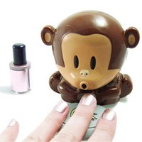 Wholesale finger monkeys for sale - Group buy Cute Monkey Manicure Nail Dryers Polish Blower Dryer Nails Nail Art Dryer Finger Toe Fast Drying Dry Machine Tool RRA2553