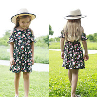 цветочные лепесток платье для детей оптовых-2019 Summer Infant Kids Baby Girls Floral Dress Princess Party Pageant Tutu Dresses Broken Flowers Petal Sleeve Clothing