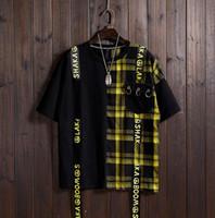 camisas amarillas para hombre de moda. al por mayor-2019 Fashion Baseball Jerseys Yellow Fashion Camiseta de manga corta Camiseta de manga corta para hombre Top Verano