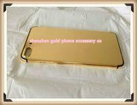 iphone alt cam toptan satış-Yeni Kaliteli Değiştirme Lüks Şasi Konut iphone 7 Arka Kapak 24 k Ayna Altın Pil Kapı Logosu + Düğmeler ile